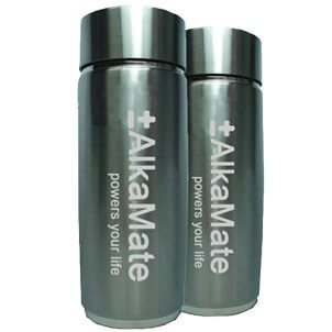 (2 Pack) AlkaMate Portable Alkaline Water Bottles