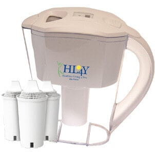 AlkaPitcher – Alkaline Water Filter Pitcher (3 Filters Included)